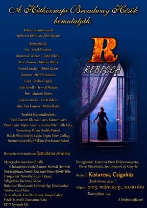 Rebecca Musical – Hétköznapi Broadway Hősök